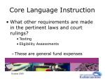 core language instruction29