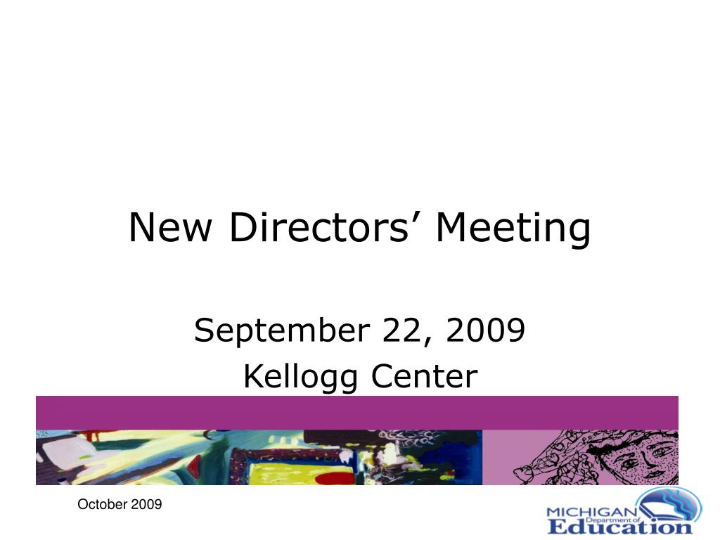 new directors meeting l.