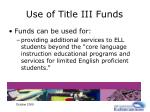 use of title iii funds25