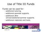 use of title iii funds35