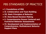 pbs standards of practice