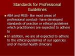 standards for professional guidelines