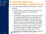 grants management consultant rate justifications6