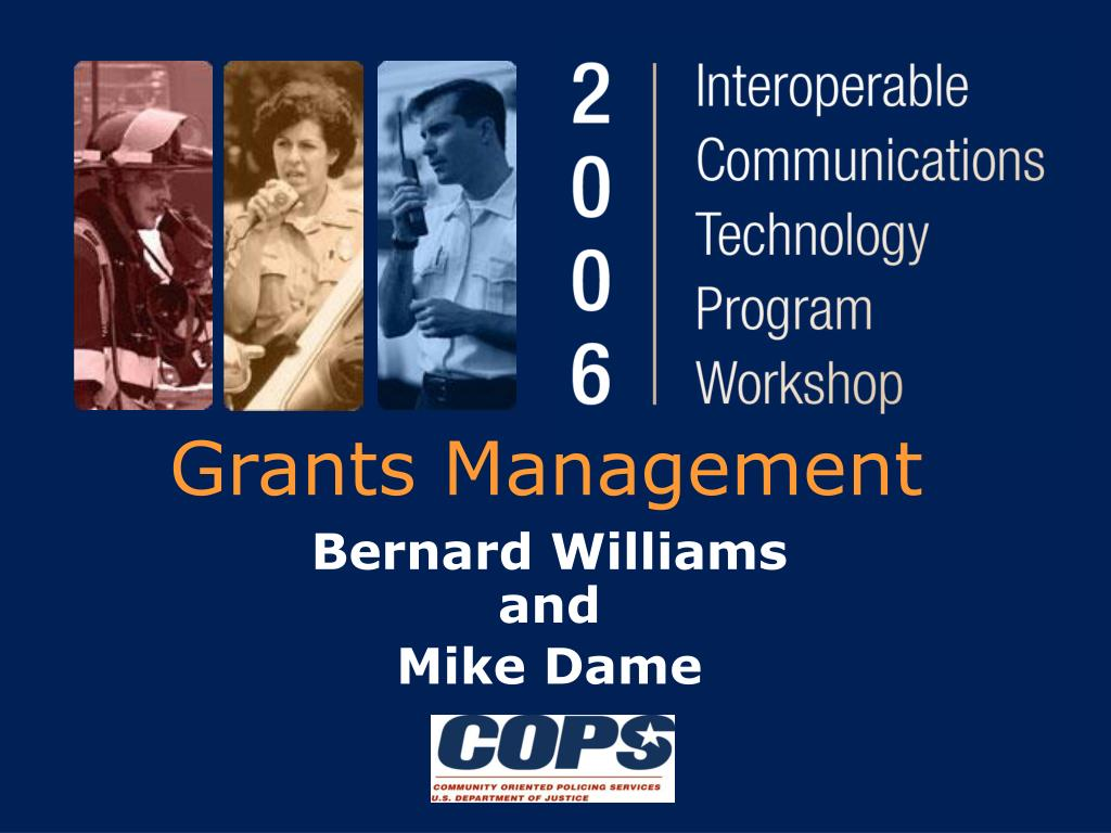 Technology Management Image: Grants Management PowerPoint Presentation