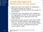 grants management modifications to your grant
