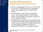 grants management modifications to your grant8