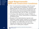legal requirements nepa and construction conditions