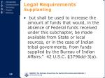 legal requirements supplanting14