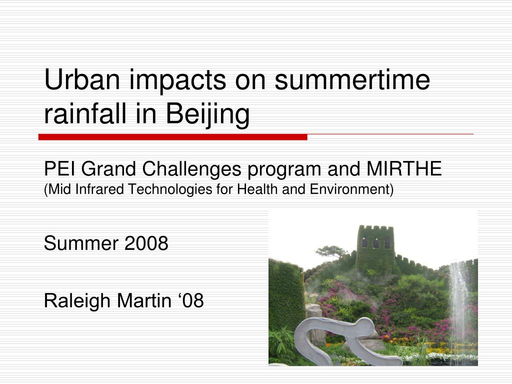 urban impacts on summertime rainfall in beijing l.