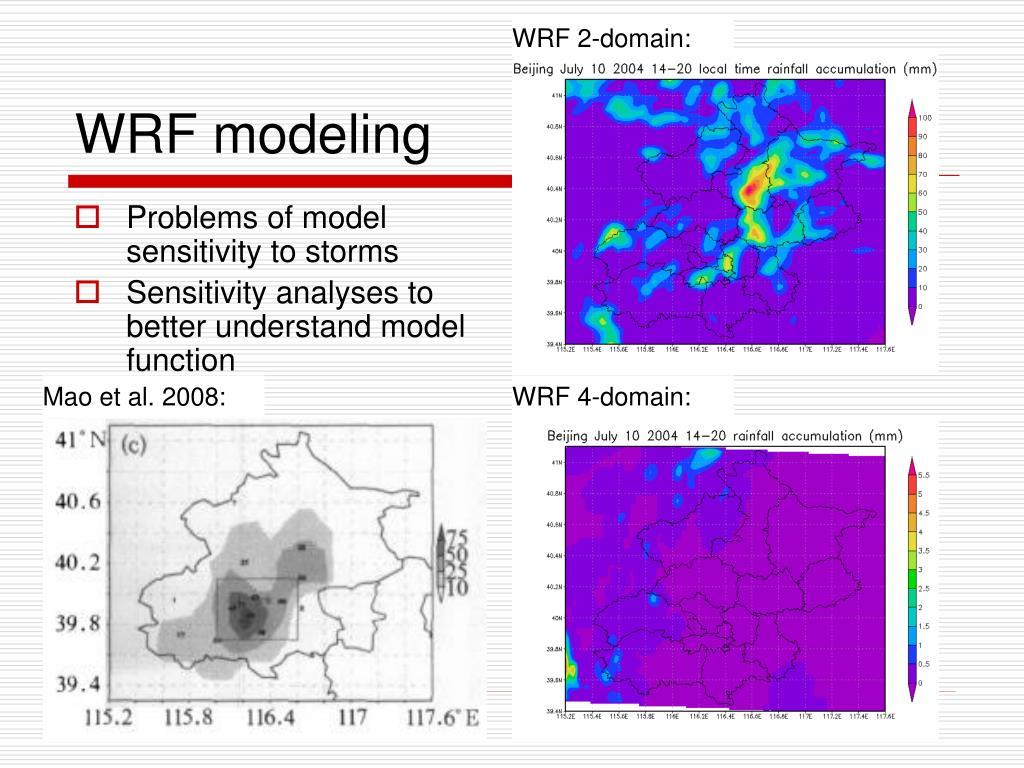 WRF 2-domain: