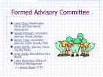 formed advisory committee