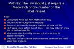 myth 2 the law should just require a medwatch phone number on the label instead