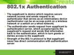 802 1x authentication
