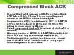 compressed block ack