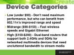 device categories
