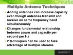 multiple antenna techniques
