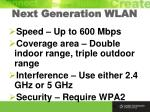 next generation wlan