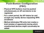push button configuration pbc