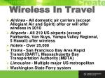 wireless in travel