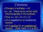 calorimetry19