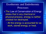 exothermic and endothermic processes7