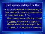 heat capacity and specific heat