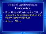 heats of vaporization and condensation39