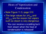 heats of vaporization and condensation40