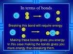 in terms of bonds