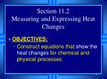 section 11 2 measuring and expressing heat changes
