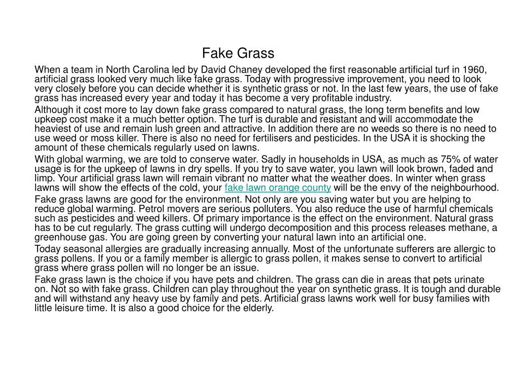 fake grass l.