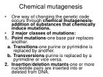 chemical mutagenesis