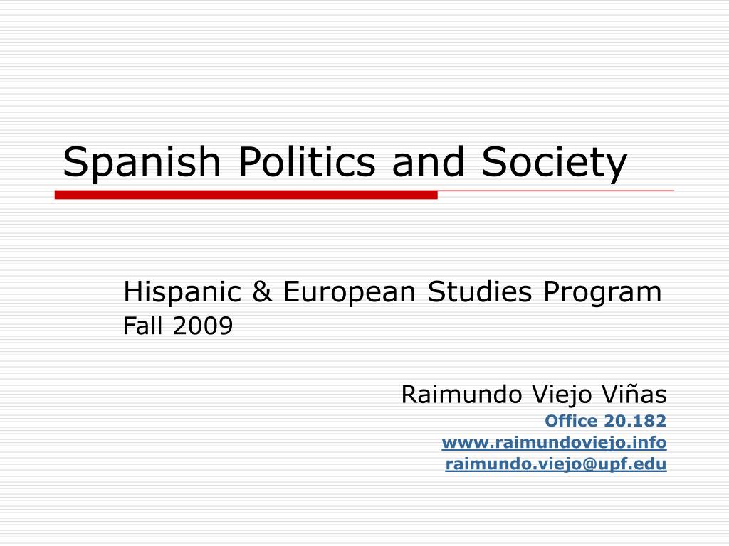 spanish politics and society l.