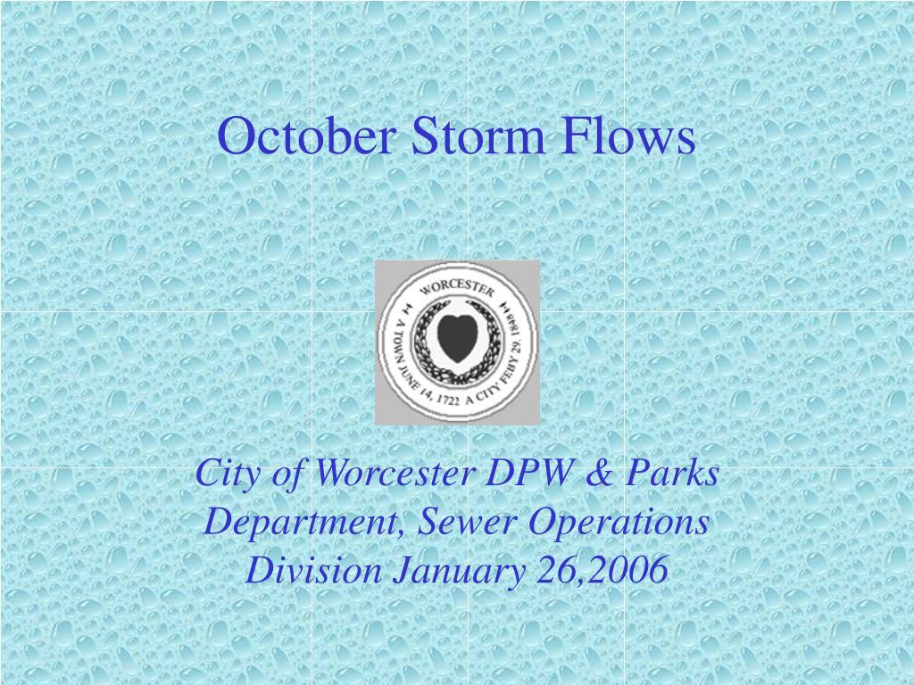 october storm flows l.