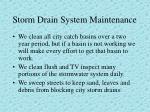 storm drain system maintenance