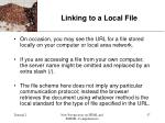 linking to a local file