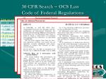 30 cfr search ocs law code of federal regulations