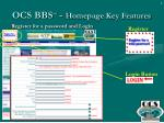 ocs bbs sm homepage key features