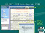 ocs bbs sm nrf output results for sm 141