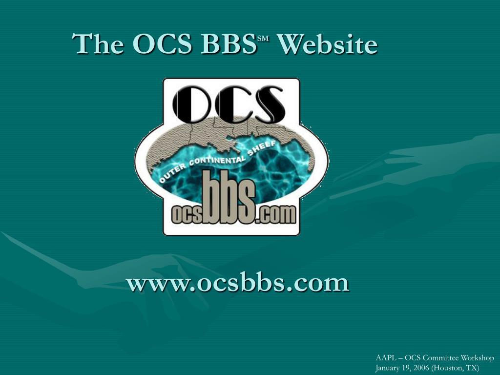 the ocs bbs sm website l.