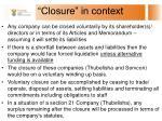 closure in context