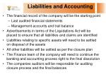 liabilities and accounting