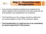 step 3 dissolution and deregistration