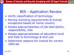 bis application review