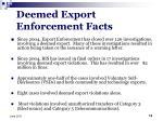 deemed export enforcement facts