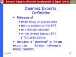 deemed exports definition