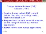 foreign national review fnr sections 740 5