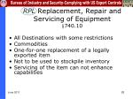 rpl replacement repair and servicing of equipment 740 10