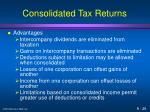consolidated tax returns