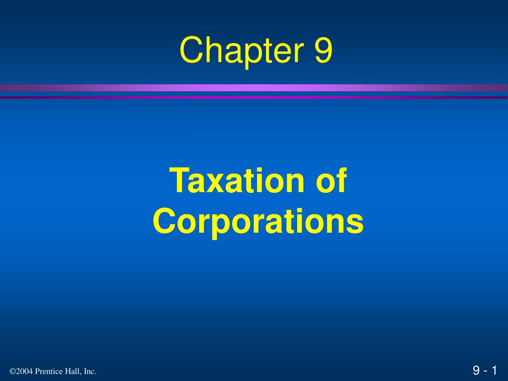 taxation of corporations l.